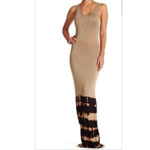 Go Couture Tie-Dye Racerback Sleeveless Maxi Dress